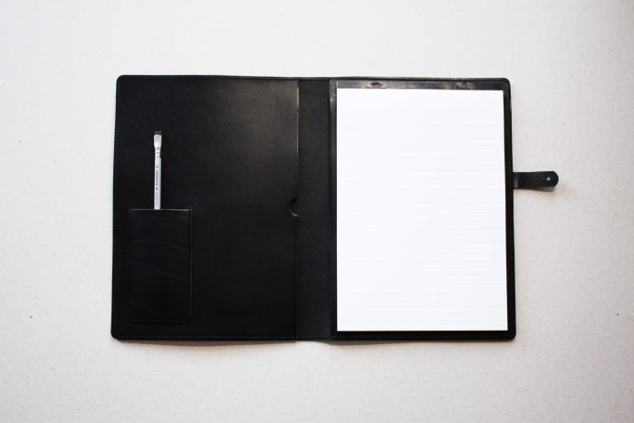 by gitte notepad cover A4 black with optional pen holder