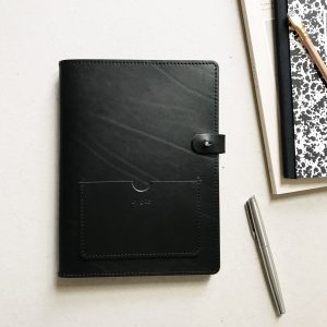 by gitte notebook cover A5 BLACK